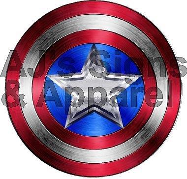 Captain America Civil War Shield Vinyl Sticker Decal Cars Trucks Vans Walls Laptop