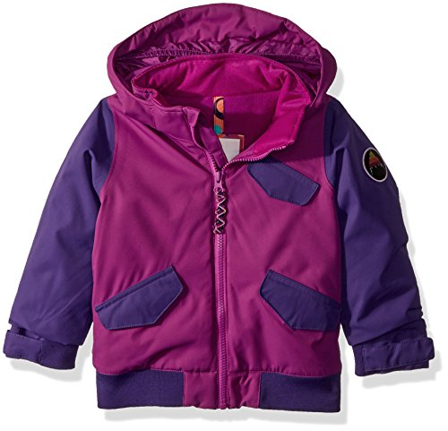 Burton Bomber (Burton Youth Girls Minishred Twist Bomber Jacket, Grapeseed/Petunia, 4T)