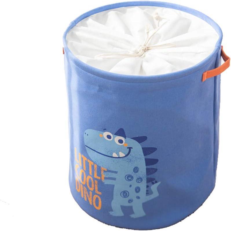 ED-Lumos Blau Dinosaurier Falten W/äschekorb mit Griff Baumwollgewebe f/ür Kinder Schlafzimmer Badezimmer Lagerung