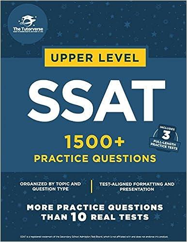 Upper Level SSAT 1500 Practice Questions