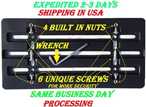 universal-front-bumper-license-plate-bracket-6-unique-screws-and-wrench-kit
