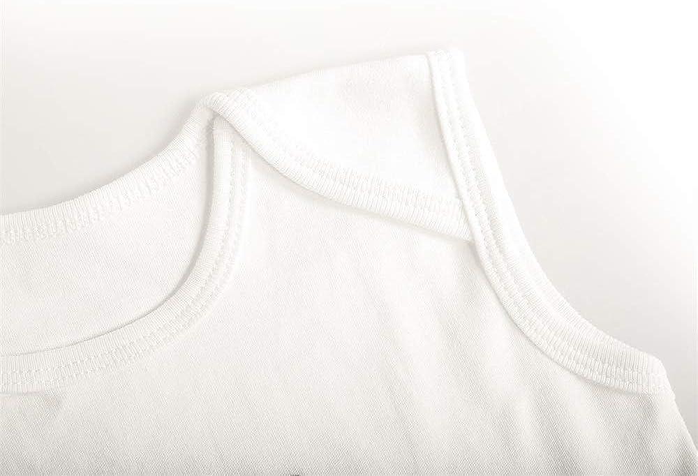DSdarRke Unisex Baby Sleeveless Essential Onesies Movie Star Cotton Bodysuits Crew Neck 3-24 Months