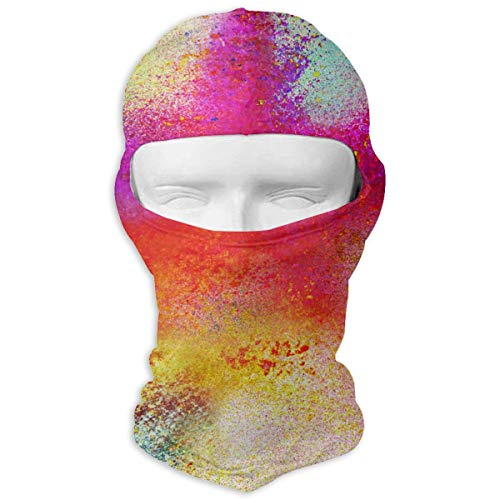 Winter Balaclava Face Mask -Multi Colored Powder Background, Men & Women Wind-Resistant Thermal Skullies Beanies Head Wrap Durable Neck Warmer for Snowboard Cycling Hunting