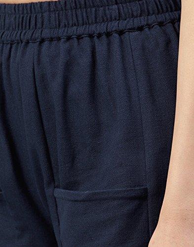 Blue Kurti Cotton Slub Solid Jaipur Navy Trousers Women wvqWpt1f