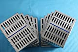 GERMAN STEEL SET OF 10 DENTAL AUTOCLAVE STERILIZATION CASSETTE RACK BOX TRAY FOR 10 INSTRUMENT