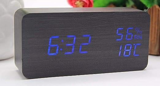 Mzbbn despertadores Digitales Despertador LED Reloj de Control de ...