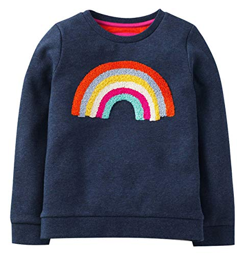 Fiream Girls Cotton Crewneck Cute Embroidery Sweatshirts(1346TZ,5)