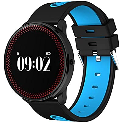 Fitness tracker Activity tracker With Step counter amp Sleep Heart rate monitor And Weather forecAst Life Waterproof Fitness wristbAnd Calorie counter Pedometer Watch-Blue Estimated Price -