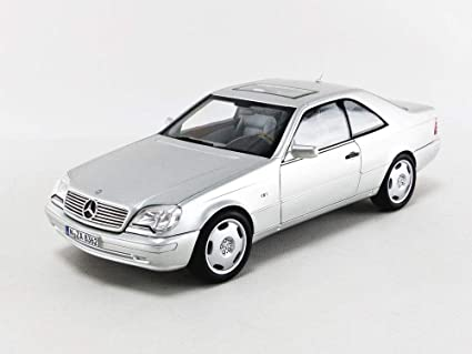 amazon com 1997 mercedes benz cl600 coupe metallic silver 1 18 diecast model car by norev 183446 toys games 1997 mercedes benz cl600 coupe metallic silver 1 18 diecast model car by norev 183446