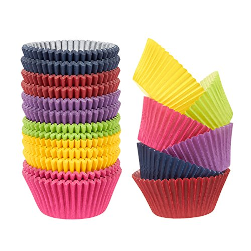 Rainbow Cupcake Liners 300-Piece - Bulk Paper Cups
