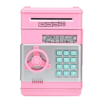 TADAMI Cash Coin Saving Piggy Bank Electric ATM Money Safe Box with Password Combination Lock Toy Gift for Kids : Baby