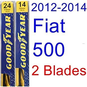 2012-2014 Fiat 500 Replacement Wiper Blade Set/Kit (Set of 2 Blades