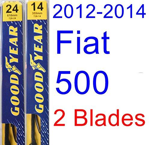 2012-2014 Fiat 500 Replacement Wiper Blade Set/Kit (Set of 2 Blades) (Goodyear Wiper Blades-Premium) (2013)