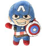 Marvel 81749 Peluche Capitan Amercia Marvel Avengers Assemble, 18cm