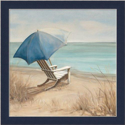 Summer Vacation I by Carol Robinson Adirondack Chair Beach Scene Art Print Framed (Cape Cod Beach Chair)