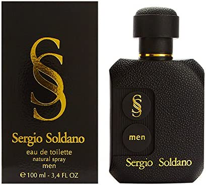 Sergio Soldano by Sergio Soldano for Men 3.4 oz Eau de Toilette Spray Black – Nero