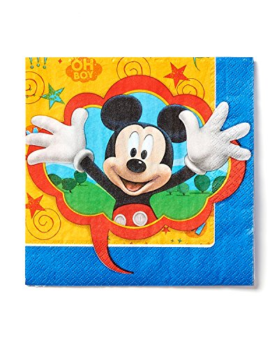 American Greetings, Mickey Mouse Party Supplies Paper Lunch Napkins, 16-Count -