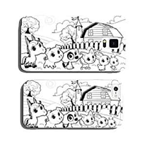 Funny farm animals in the garden cell phone cover case Samsung S5