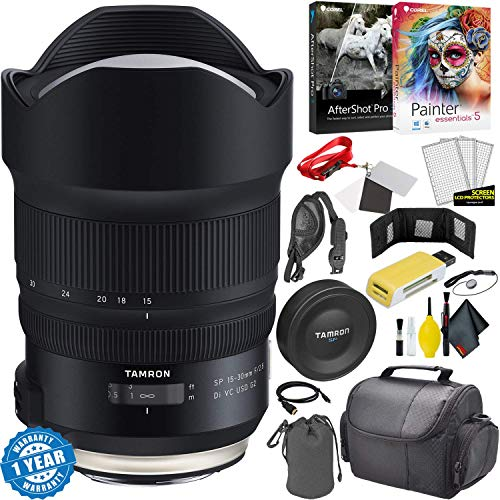 Tamron SP 15-30mm f/2.8 Di VC USD G2 Lens for Canon EF + Carrying Case + Accessories Kit International Version