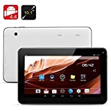 white 10.1 Inch Octa Core Tablet PC Android 5.1 Lollipop 1GB RAM 16GB Nand Flash Bluetooth 4.0 HD Dual Camera HDMI Output Play Store Pre-installed 3D Game Supported Slim Design