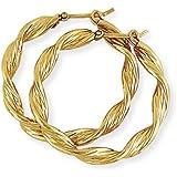 Twist Hoop Earrings in 9Ct Gold 26x27mm