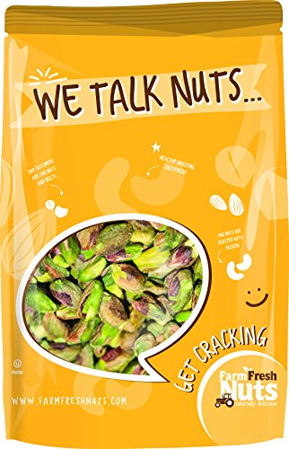 - California Pistachios Kernels Roasted with Sea Salt (SHELLED) Brand New Item - 1 LB.
