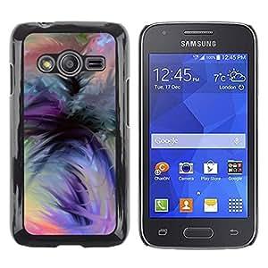 Caucho caso de Shell duro de la cubierta de accesorios de protección BY RAYDREAMMM - Samsung Galaxy Ace 4 G313 SM-G313F - Orange Black Green