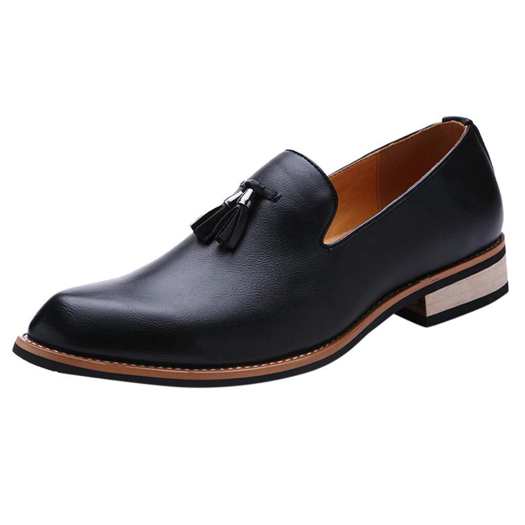 Men's Oxford Sneaker Dress Shoes-Men Business Men's Premium Leather Slip On Oxfords Shoes Business Shoes Fishion Shoes