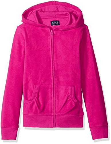(The Children's Place Girls' Little Uniform Microfleece Jacket, Aurora Pink, X-Small/4)