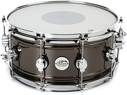 DW Design Series Black Nickel over Brass Snare Drum 14x6.5 Inch - Edge Series Snare Drum