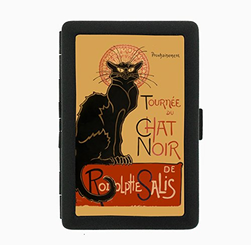 Chat Noir Nightclub Poster Black Cigarette Case Holder Wallet -