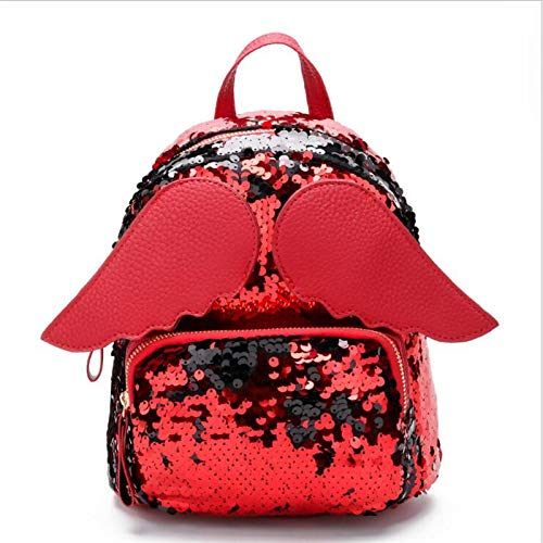 NEW Women Sequins Backpacks F Preppy Style Lovely Travel School Bag Bling Wings Shoulder Bags For Teenager Girls M40 4 -