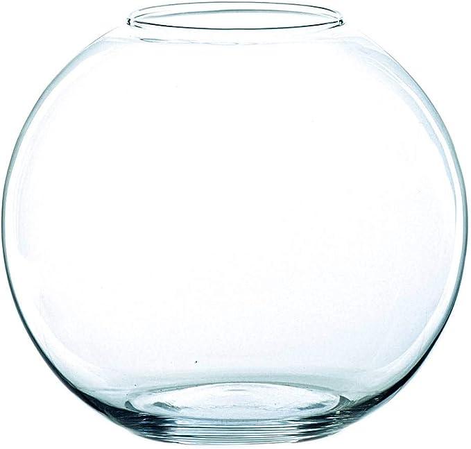 INNA-Glas Jarrón Redondo Tobi de Cristal, Transparente, 20,5cm, Ø ...