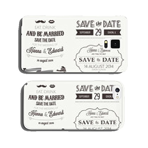 Set of wedding invitation vintage typographic design elements cell phone cover case iPhone6