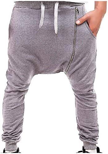 GodeyesW メンズハーレンパンツ斜めズボンミッドランニングドローストリングトレーニングを実行してズボン