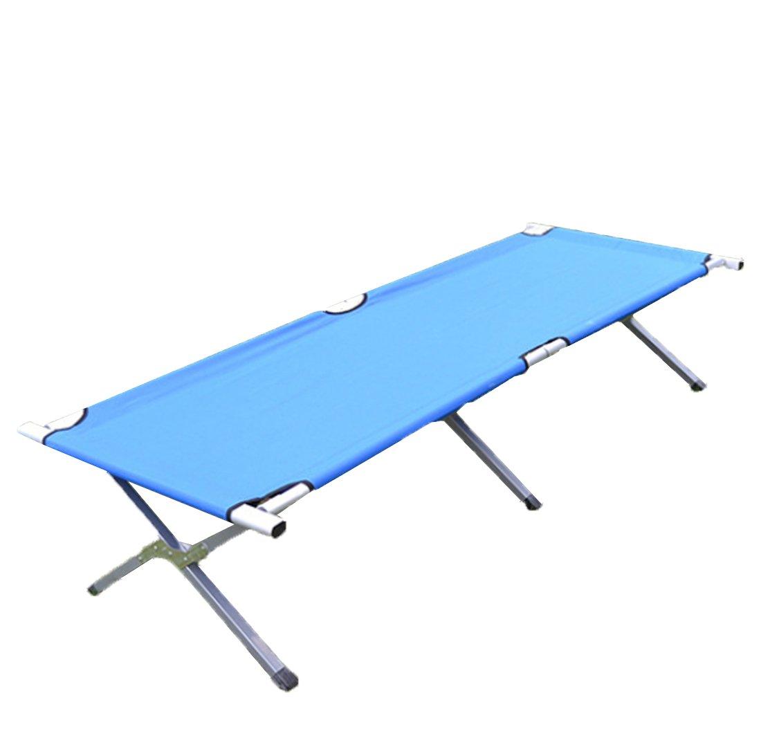JJY Wasserdichte Oxford Tuch Outdoor Camp Bett Klappbett Lounge Chair Mittagspause Verlängern Erweiterung Strandbett,Bule