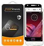 "[2-Pack] Supershieldz for Motorola ""Moto Z2 Play"" Tempered Glass Screen Protector, [Full Screen Coverage] Anti-Scratch, Bubble Free, Lifetime Replacement Warranty (Black)"