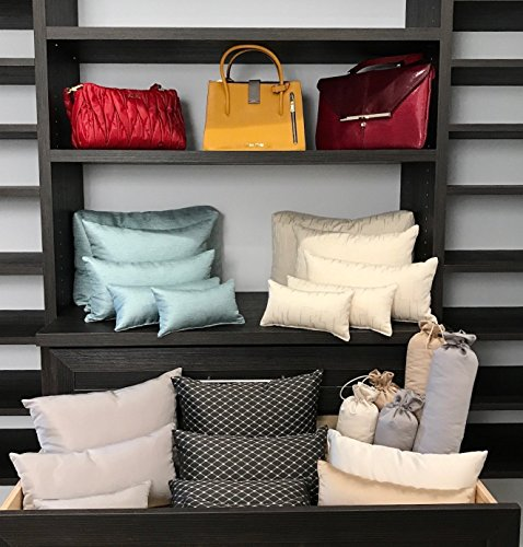 Fendi Blue Handbag (LUXURY PURSE PILLOW Starter Sets: White,Cream,Gold,Charcoal,or Navy! Choose a 4,5 or 9 Piece Handbag Stuffer Set, Unlimited Quantities)