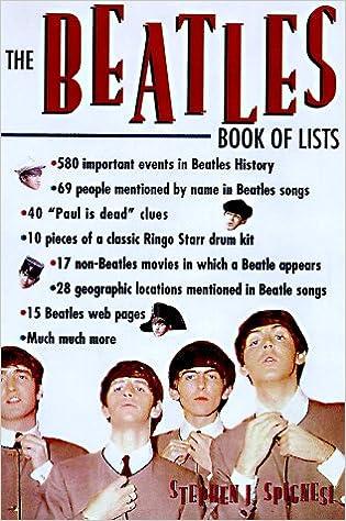 The Beatles Book Of Lists: Stephen Spignesi: 9780806519722