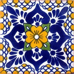 Polanco amarillo talavera tile 4 x 4 ceramic tiles - Azulejos reina ...