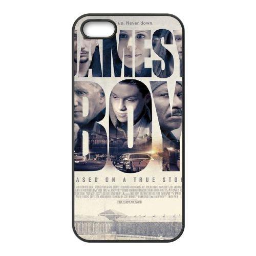 Jamesy Boy coque iPhone 5 5S cellulaire cas coque de téléphone cas téléphone cellulaire noir couvercle EOKXLLNCD24685