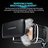 Amazon Com Vr Shinecon 3d Vr Headset Virtual Reality Glasses 3d Vr Goggles Headsets For Video Movies Games Compatible With Iphone And Android Smartphone