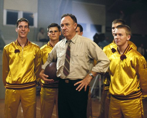 Gene Hackman in Hoosiers as basketball coach 8x10 Promotional Photograph