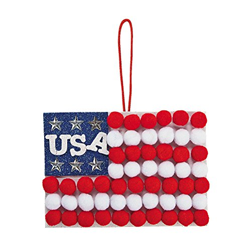 Pom-pom Flag Sign Craft Kit (Makes 12)