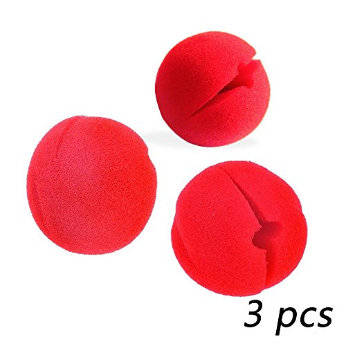 AStorePlus Simple Foam Clown Noses, 3Pcs Red Clown Nose For Circus Halloween Costume Party (Best Simple Halloween Costumes)