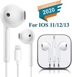 Lighting Connector Earbuds Earphone Wired Headphones Headset with Mic and Volume Control,Quick Linking,Compatible with iPhone 11 Pro Max/Xs Max/XR/X/7/8 Plus Plug and Play DVD-RW Discs