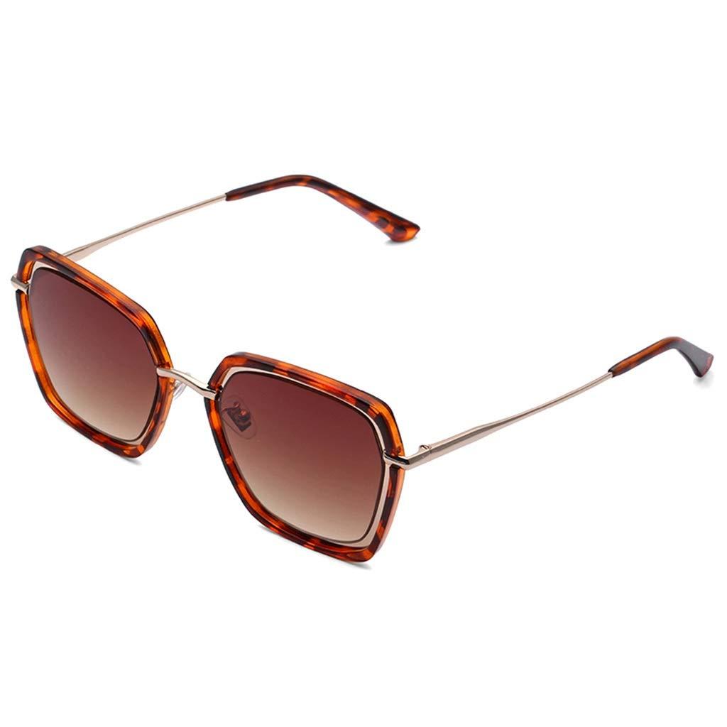 BROWN Sunglasses Female UV Predection Big Face Fashion Glasses New Sunglasses Retro Harajuku Style (color   Brown, Size   50mm55mm)