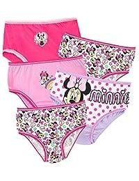 Disney Girls' Minnie Mouse Underwear Pack of 5