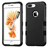 Apple iPhone 7 PLUS Case, Tuff Double Layer Cover for Apple iPhone 7 PLUS with Stylus Pen ApexGears (TM) Black