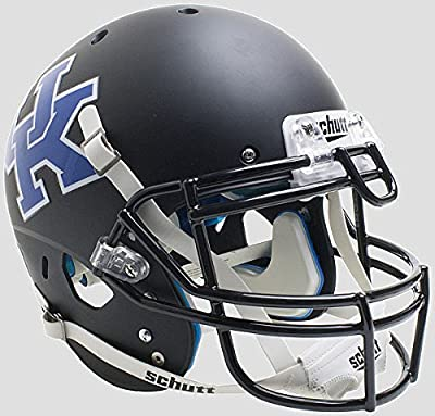 Kentucky Wildcats Authentic College XP Football Helmet Schutt Matte Black - Licensed NCAA Merchandise